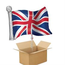 Union Jack Flag Giant Shaped Balloon in a Box Gift