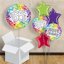 Rainbow Confetti 65th Birthday 18 Balloon In A Box