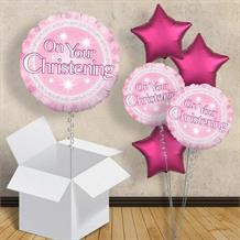 "Pink On Your Christening 18"" Balloon in a Box"