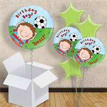 "Football Birthday Boy Goal 18"" Balloon in a Box"