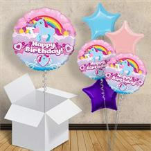 "Unicorn Rainbow Happy Birthday 18"" Balloon in a Box"
