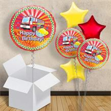 "Fire Engine Happy Birthday 18"" Balloon in a Box"