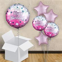 "Disco Ball Happy Birthday 18"" Balloon in a Box"