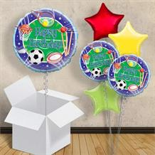 "Sports Happy Birthday 18"" Balloon in a Box"