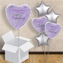 "Congratulations on Your Engagement Purple 18"" Balloon in a Box"