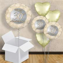 "Happy 30th Anniversary Pearl 18"" Balloon in a Box"