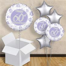 "Happy 60th Anniversary Diamond 18"" Balloon in a Box"
