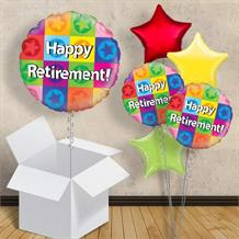"Happy Retirement Star 18"" Balloon in a Box"