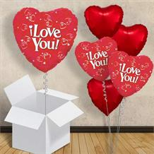 "I Love You Red Heart 18"" Balloon in a Box"