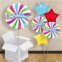 "Congratulations Swirls 18"" Balloon in a Box"