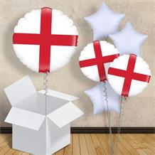 "England Cross of St George 18"" Balloon in a Box"