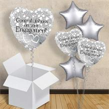 Congratulations on Your Engagement Silver Balloon in a Box