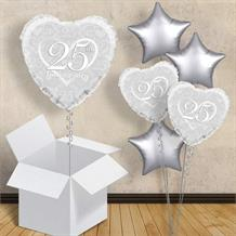 "Happy 25th Anniversary Heart 18"" Balloon in a Box"