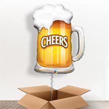 Cheers Beer Glass Giant Shaped Balloon in a Box Gift