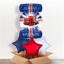 Great Britain London Icons Giant Shaped Balloon in a Box Gift