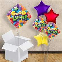 "Good Luck Diamond 18"" Balloon in a Box"