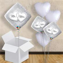 "Mr and Mrs Diamond | Wedding 18"" Balloon in a Box"