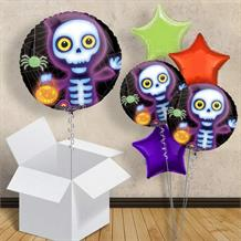 "Boo Crew Skeleton 18"" Balloon in a Box"