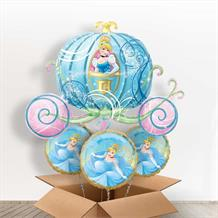 Cinderella Carriage Giant Shaped Balloon in a Box Gift