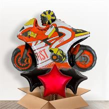 Red Motorbike | Motorcycle Giant Balloon in a Box Gift