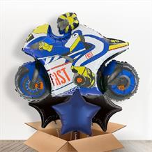 Blue Motorbike | Motorcycle Giant Balloon in a Box Gift
