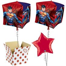 "Superman 15"" Cube Balloon in a Box"