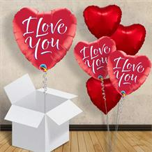 "I Love You Red Heart 18"" Foil 