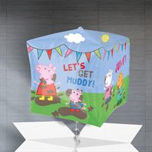 "Peppa Pig 15"" Cube Balloon in a Box"