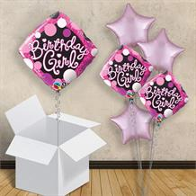 "Pink Diamond Birthday Girl 18"" Balloon in a Box"