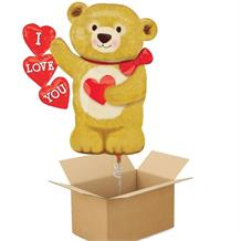 I Love You Shaped Bear Giant Shaped Balloon in a Box Gift