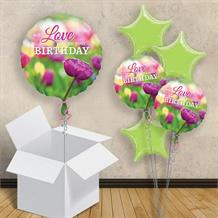 "With Love on Your Birthday Floral 18"" Balloon in a Box"