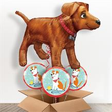 Golden Dog Giant Shaped Balloon in a Box Gift