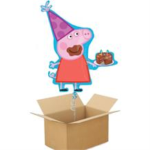 Peppa Pig Cake Giant Shaped Balloon in a Box Gift