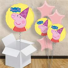 "Peppa Pig Party Hat 18"" Balloon in a Box"