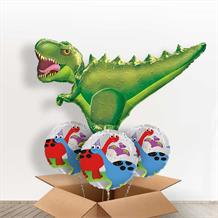 Green T Rex | Dinosaur Giant Shaped Balloon in a Box Gift