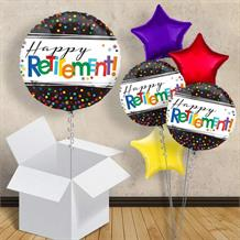 "Happy Retirement Confetti Dots 18"" Balloon in a Box"