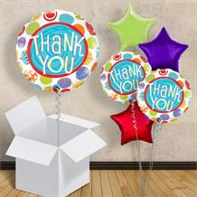 "Thank You Pastel Dots 18"" Balloon in a Box"