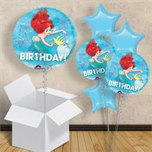 "Ariel the Little Mermaid Happy Birthday 18"" Balloon in a Box"