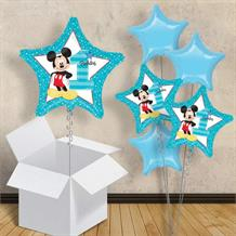 "Mickey Mouse Star 1st Birthday 18"" Balloon in a Box"