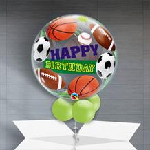 "Football | Tennis | Sport 22"" Bubble Balloon in a Box"