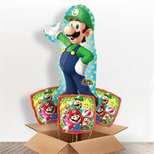 Super Mario | Luigi Giant Shaped Balloon in a Box Gift