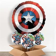 Captain America | Shield Giant Shaped Balloon in a Box Gift
