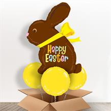 Chocolate Easter Bunny Giant Shaped Balloon in a Box Gift