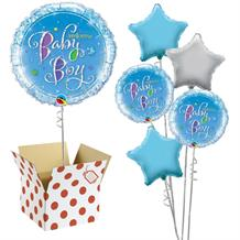 "Holographic Welcome Baby Boy | Baby Shower 18"" Balloon in a Box"
