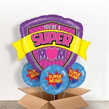 You're a Super Mom | Mum | Shield Giant Shaped Balloon in a Box Gift