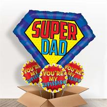 Super Dad | Shield Giant Shaped Balloon in a Box Gift