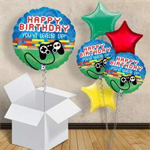 "Game Controller Happy Birthday 18"" Balloon in a Box"