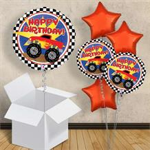 "Monster Truck Happy Birthday 18"" Balloon in a Box"