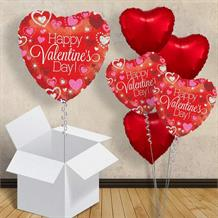 "Happy Valentines Day Sparkling Heart 18"" Balloon in a Box"