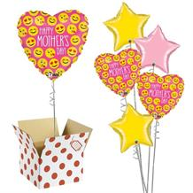 "Emoji Mothers Day Heart 18"" Balloon in a Box"